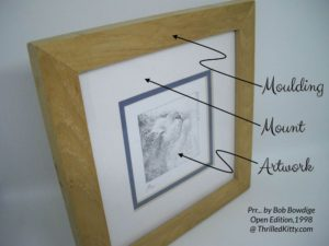 Identifying the parts of a frame: the moulding, the mount and the artwork