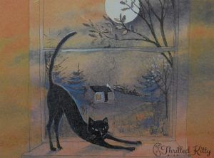 'Cat on the Sill' by Keli Clark | Signed Giclée Print