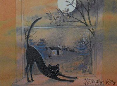 'Cat on the Sill' by Keli Clark | Signed Giclée Print