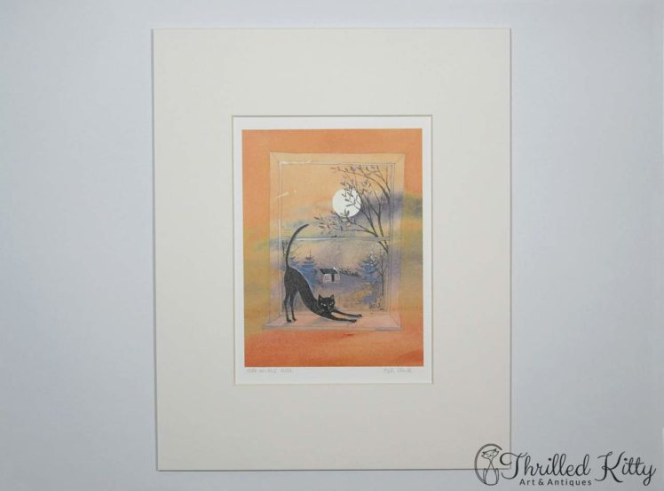 Cat on the Sill by Keli Clark-Signed Giclee Print-2