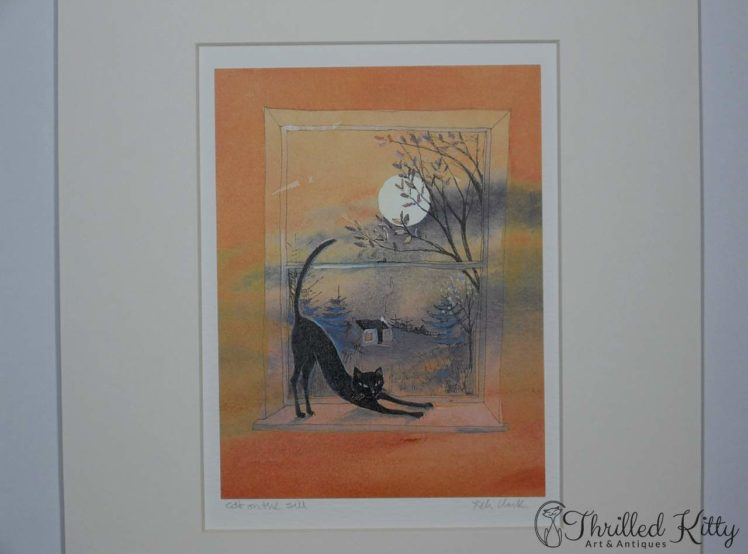 Cat on the Sill by Keli Clark-Signed Giclee Print-4