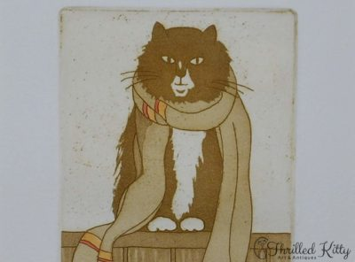 'Cat with Scarf' by Maggie Burley | Limited Edition Etching