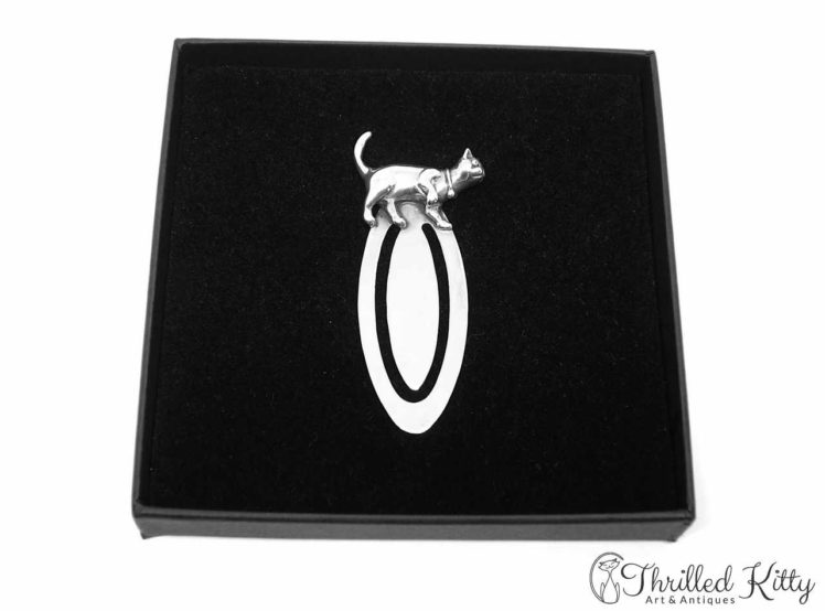 Characterful Walking Cat Bookmark Solid Sterling Silver 5