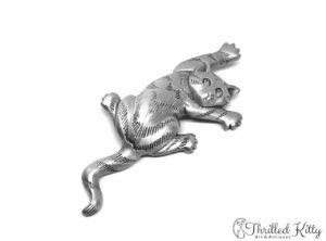 Climbing Cat Vintage American Brooch | Jonette Jewelry | 1980s