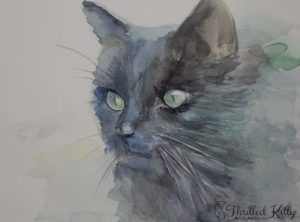 'Dark Cat' by Petya Tosheva | Watercolour