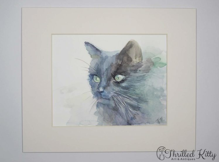 Dark Cat by Petya Tosheva-Watercolour-2