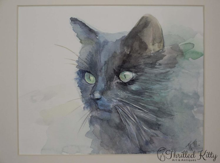 Dark Cat by Petya Tosheva-Watercolour-4