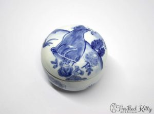 Hand-Painted Lidded Trinket Pot | Quail Pottery