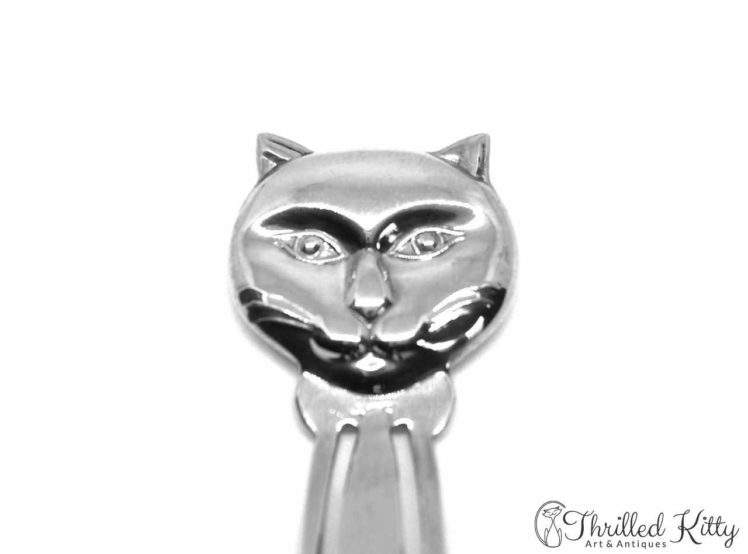 Handsome Cat's Head Bookmark Solid Sterling Silver 3