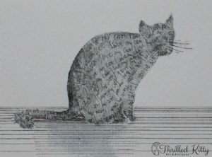 'I Love My Cat' by Anne Moskwa | Ink & Watercolour