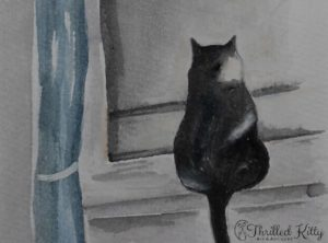 'Inconspicuous Bird Watcher' by Karen Spooner | Watercolour
