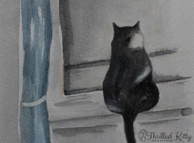 'Inconspicuous Bird Watcher' by Karen Spooner | Watercolour