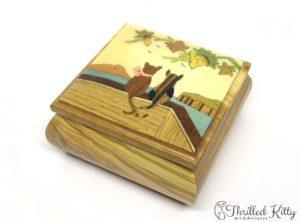 Italian Sorrento Ware Jewellery Box | Inlaid Olive Wood
