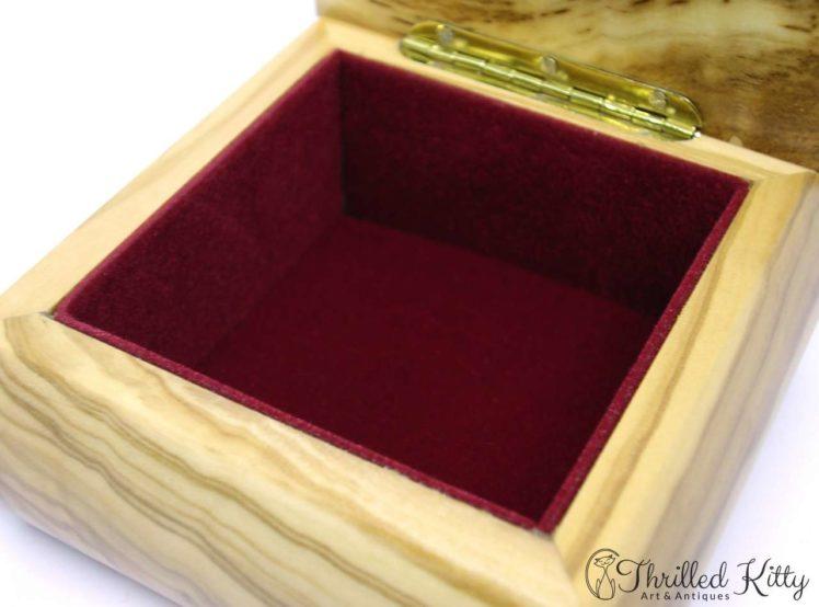 Italian Sorrento Ware Jewellery Box-Inlaid Olive Wood-5