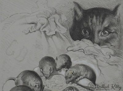 Mice in the Grain (Untitled) | Ink, Pencil & Gouache | Victorian