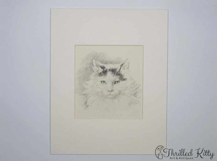 Pudgy by Lucy Dawson-Hand Coloured Print-1946-2