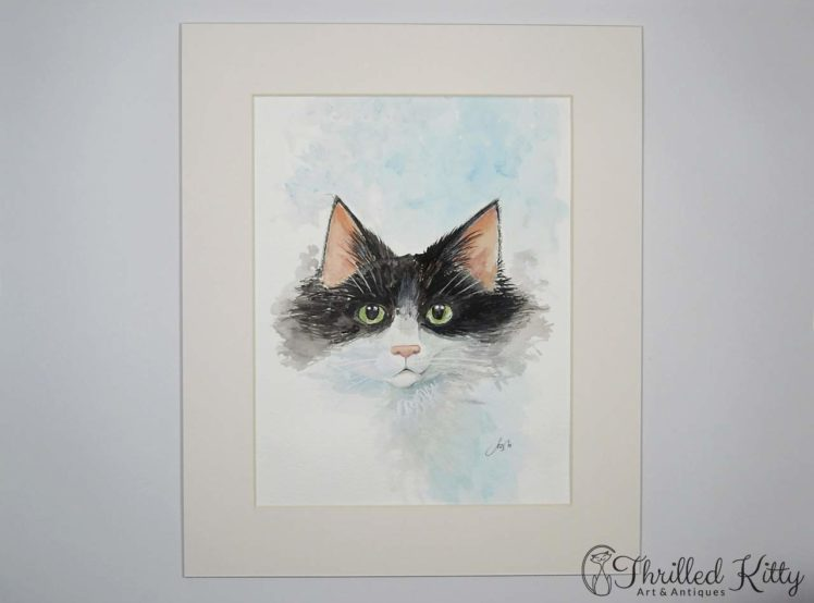 The Cat Next Door by Paul Selvey-Watercolour-2