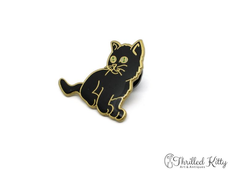 Cloisonne-Adorable-Kitten-Green-Eyes-Lapel-Pin-2