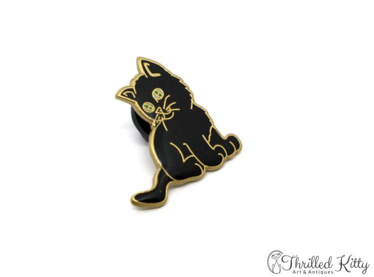 Cloisonne-Adorable-Kitten-Green-Eyes-Lapel-Pin-3