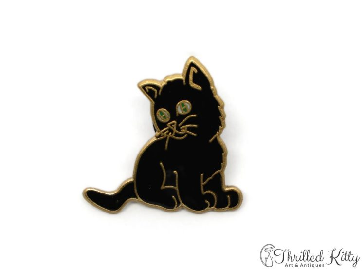 Cloisonne-Adorable-Kitten-Green-Eyes-Lapel-Pin-5