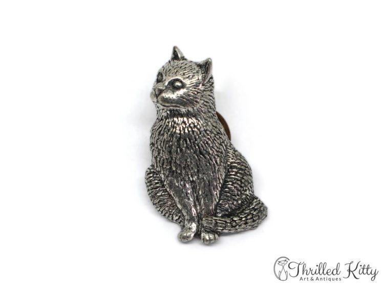 English-Pewter-Sitting-Cat-Lapel-Pin-ARBrown-2