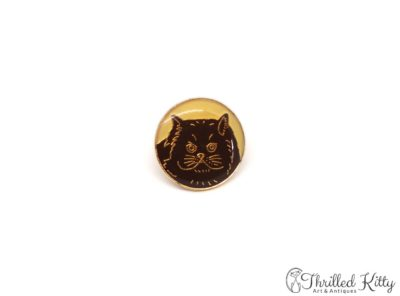 Cloisonné Persian Cat Lapel or Tie Pin | British Badge Co. | 1980s