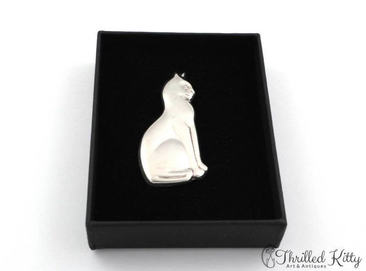 Sitting-Cat-Profile-Silver-Brooch-1970s-4