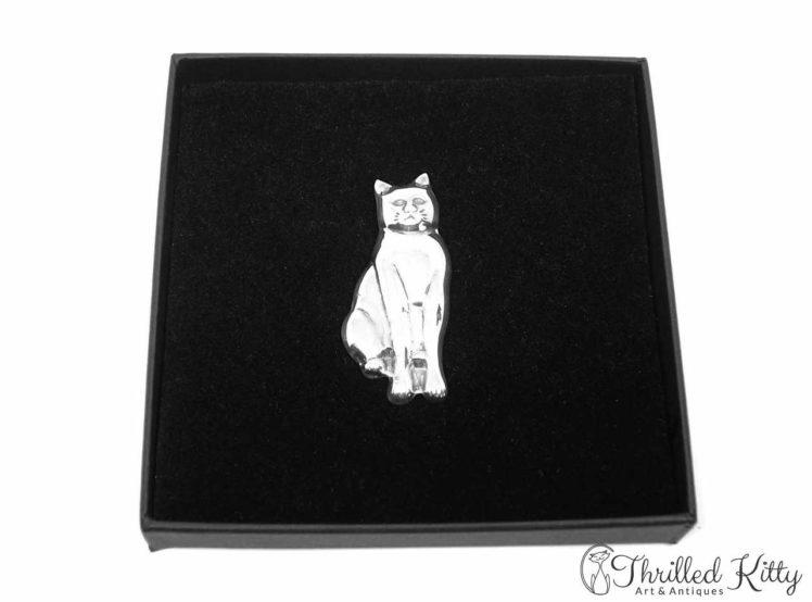 Temp-Sitting-Cat-Silver-Brooch-1970s-3