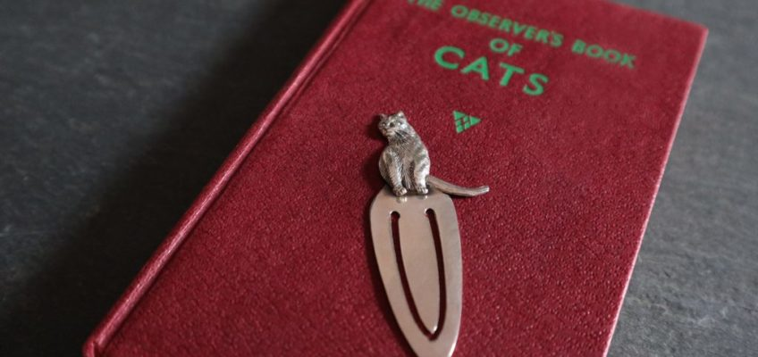 Solid Silver Cat Bookmarks