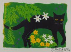 'Black Cat 1993' by Jane Zeuner | Silkscreen Print