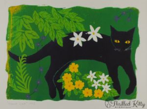 'Black Cat 1993' by Jane Zeuner | Silkscreen Print