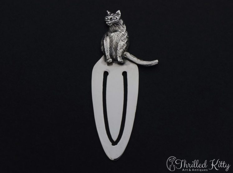 detailed-sitting-cat-silver-bookmark-1