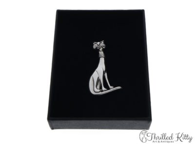 Sixties Style Cat Brooch | Sterling Silver