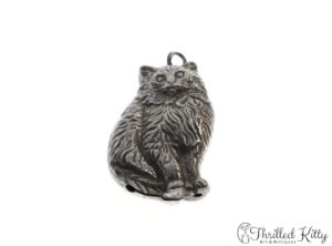 Vintage English Cat Charm | EPNS Silverplate