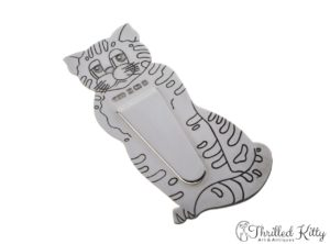 Vintage Harrison Brothers & Howson Cat Bookmark | Solid Sterling Silver