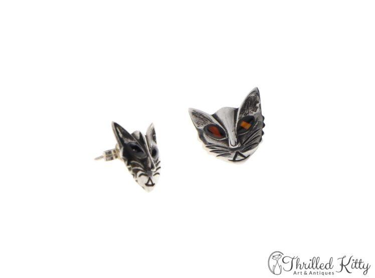 vintage-scandinavian-modernist-silver-cat-earrings-3